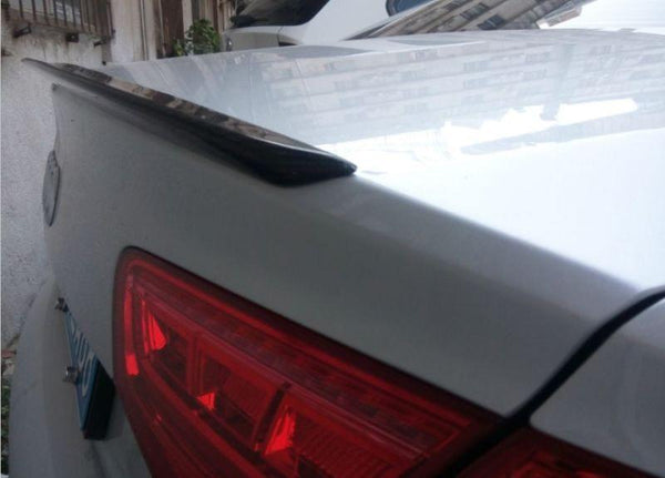 Audi A8 S8 Rear Carbon Fiber Trunk Lip Spoiler