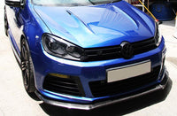 Carbon fiber front lip spoiler fit for golf 6 VII MK6 R20 EXOT style