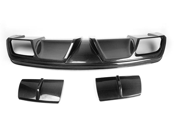 C117 W117 CLA250 CLA45 CLA CARBON REAR BUMPER DIFFUSER FIT FOR MERCEDES BENZ NON AMG BUMPER