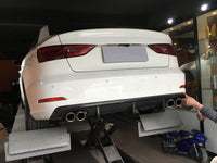 Audi A3 8V 4Dr Sedan Carbon Fiber Rear Diffuser