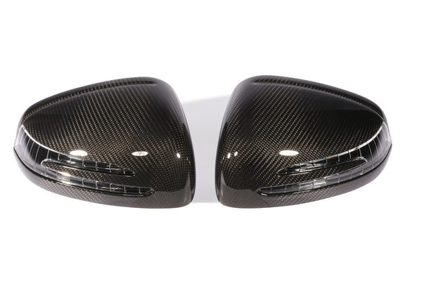MERCEDES AMG GT / AMG GTS C190 | MIRROR CAPS WITH CARBON TOP LAYER