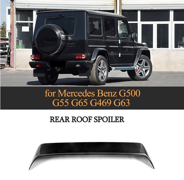 Fit for Mercedes Benz G500 G55 G65 G469 G63 modified double carbon fiber tail wing roof carbon fiber tails wing spoiler with led