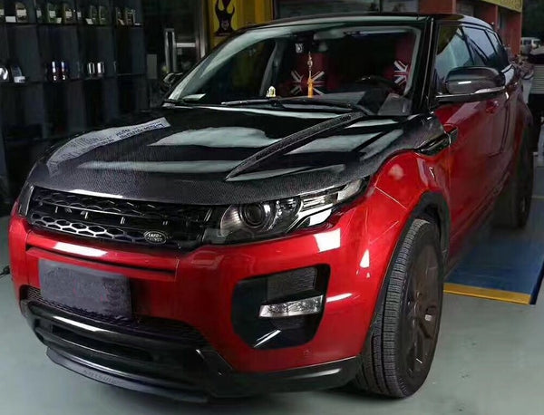 carbon fiber evoque engine hoods fit for land rover