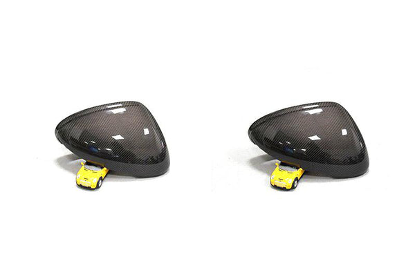Porsche Macan Carbon Fiber Full Replacement Rear Review Mirror Cover Caps