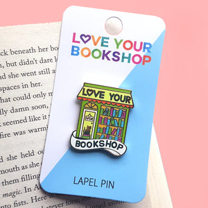 2020 Love Your Bookshop lapel pin