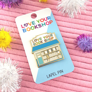 Love Your Bookshop X Jubly-Umph lapel pin
