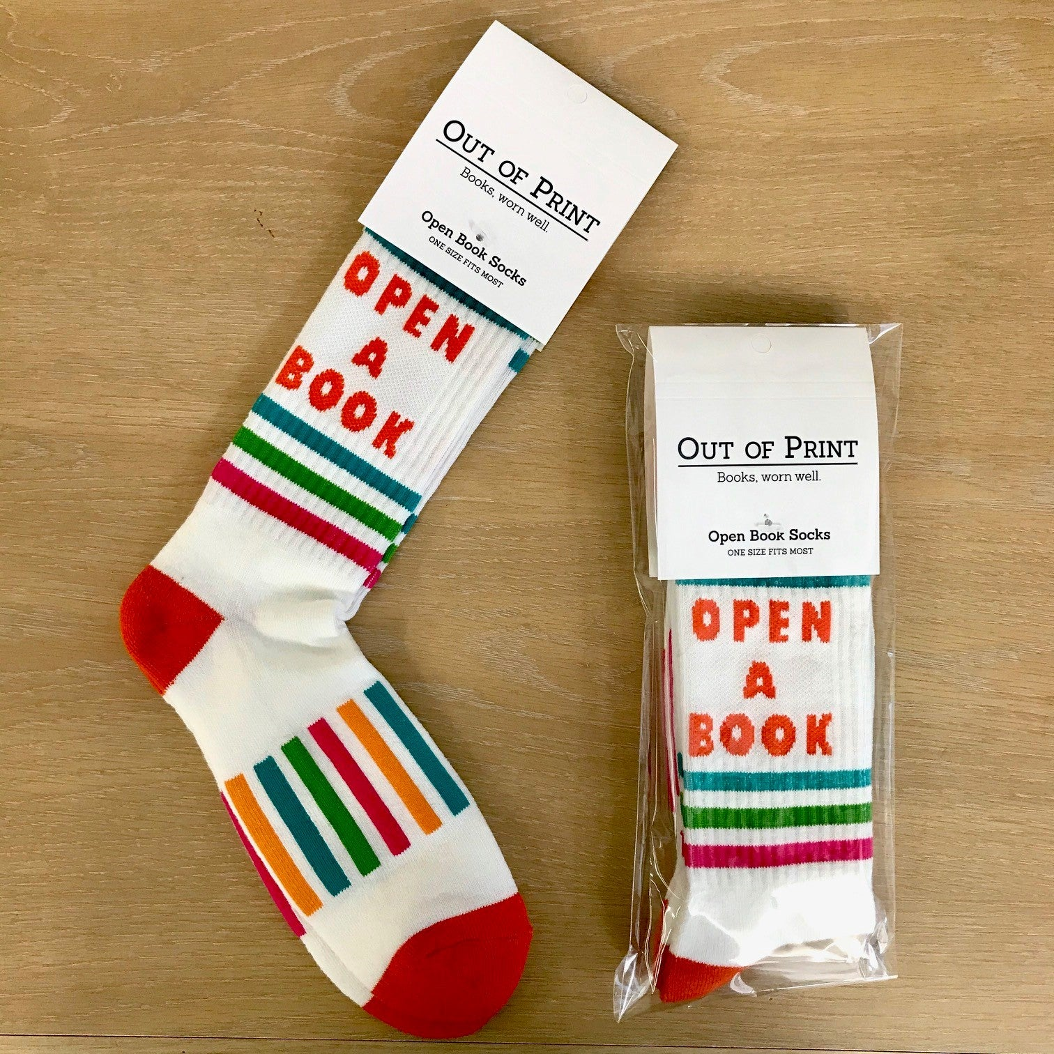 Open Book Socks (One size fits most)