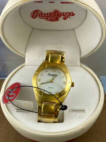 Rawlings Gokd Watch with Unique Baseball Clamshell Box