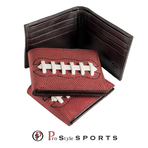 Football Fans get a kick out of these Genuine Leather Laced  Football Wallets