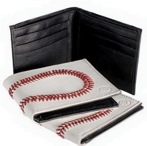 Genuine Baseball Wallet Made Real Baseball Leather with 108 Baseball Red Stitchs