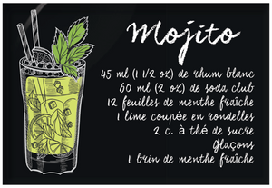 Aimants | Magnets | Cocktails recetttes Mojito