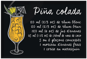 Aimants | Magnets | Cocktails recetttes Pina Colada