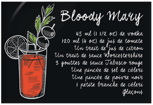 Aimants | Magnets | Cocktails recettte Bloddy Mary