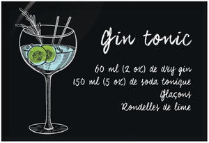 Aimants | Magnets | Cocktails recettte Gin tonic