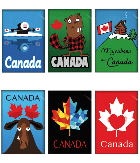 Aimants souvenirs du Canada | Gift magnets