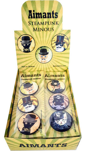 Aimants pour le frigo | Steampunk minous | Magnets