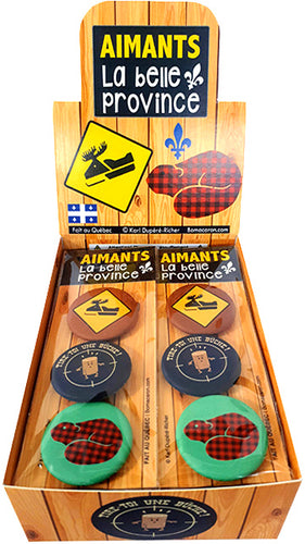 Aimants souvenirs | La belle province Québec | Magnets
