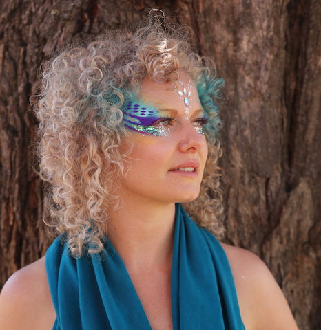 Emily Shurey Co-Founder Glitterazzi at Rainbow Serpent Festival