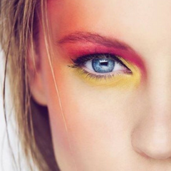 Festival Makeup Trend 3 Bold Colour Eyes and coloured highlights