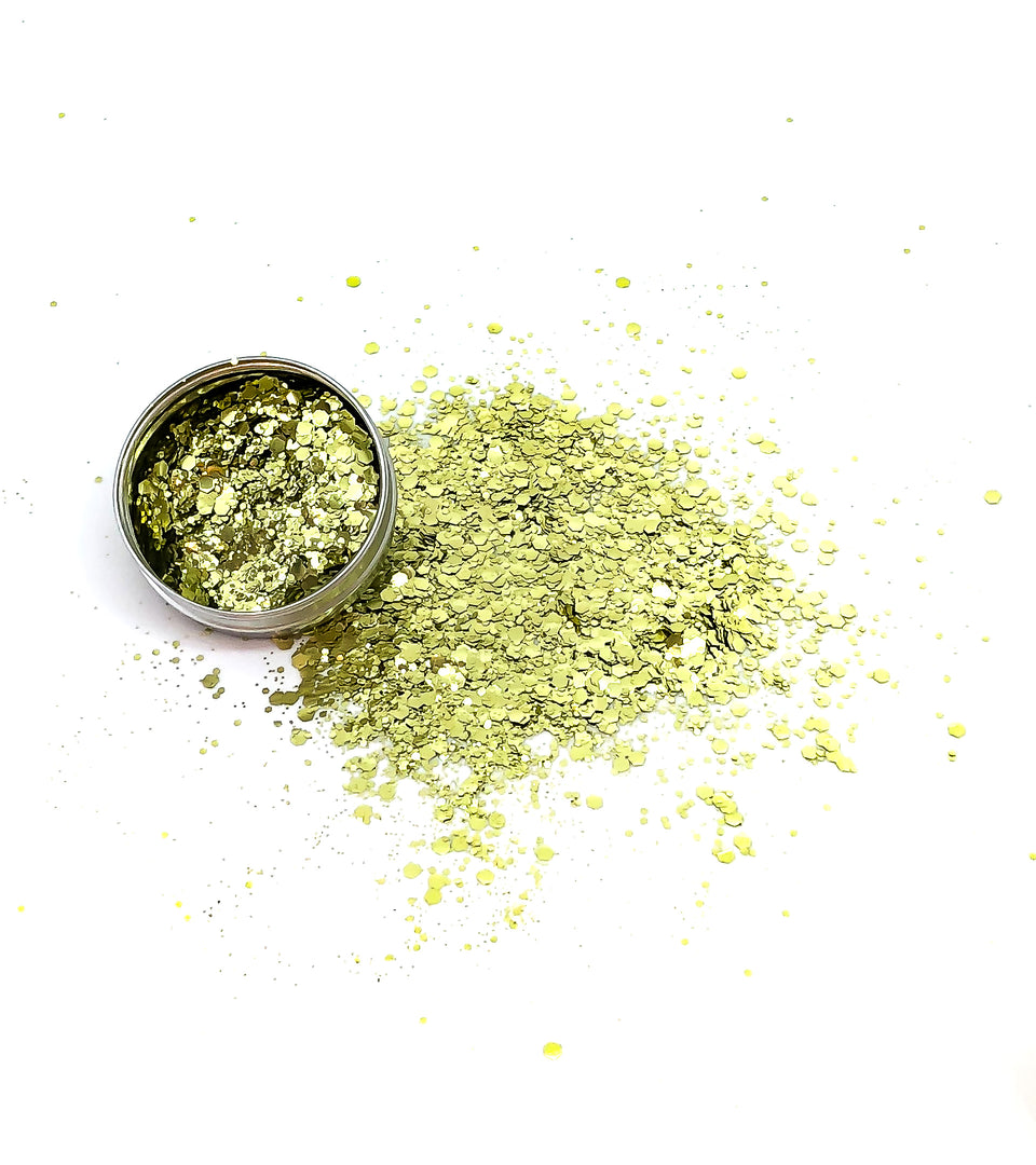 All That Glitters - loose biodegradable gold glitter mix - Glitterazzi Biodegradable Eco-Friendly Glitter