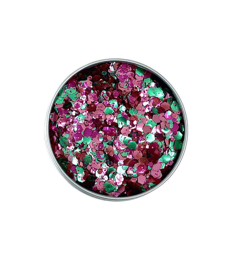 Toxic Strawberry - loose biodegradable glitter mix