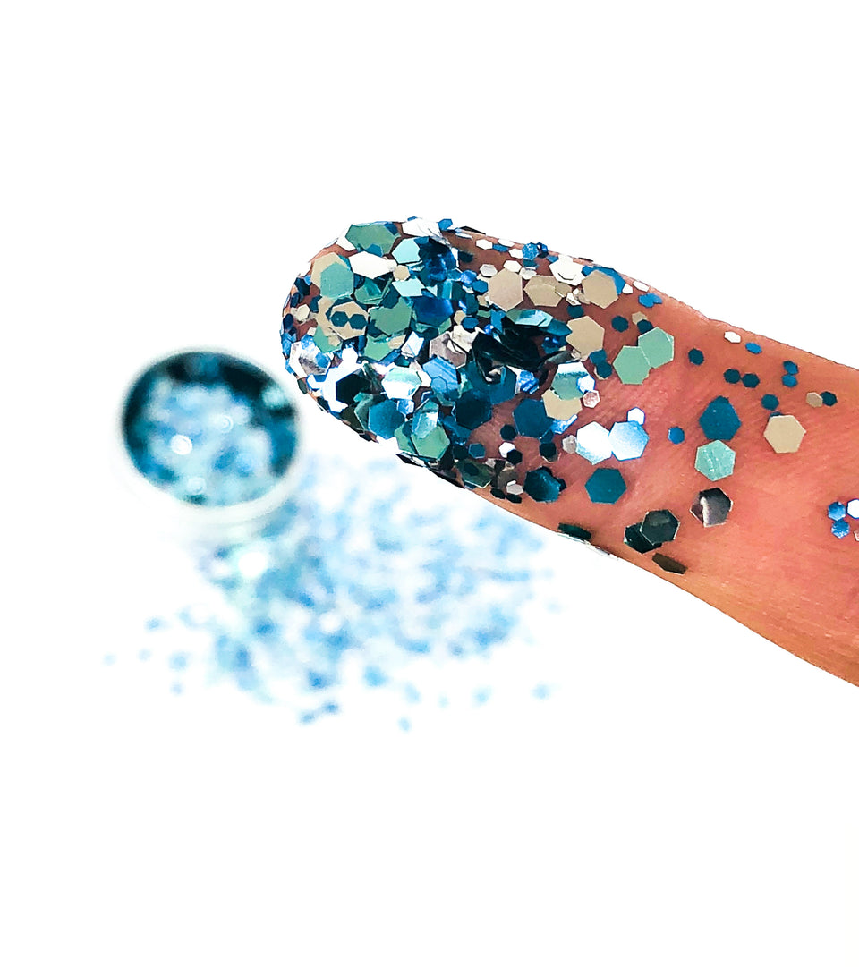Celestial Ice - loose biodegradable glitter mix - Glitterazzi Biodegradable Eco-Friendly Glitter
