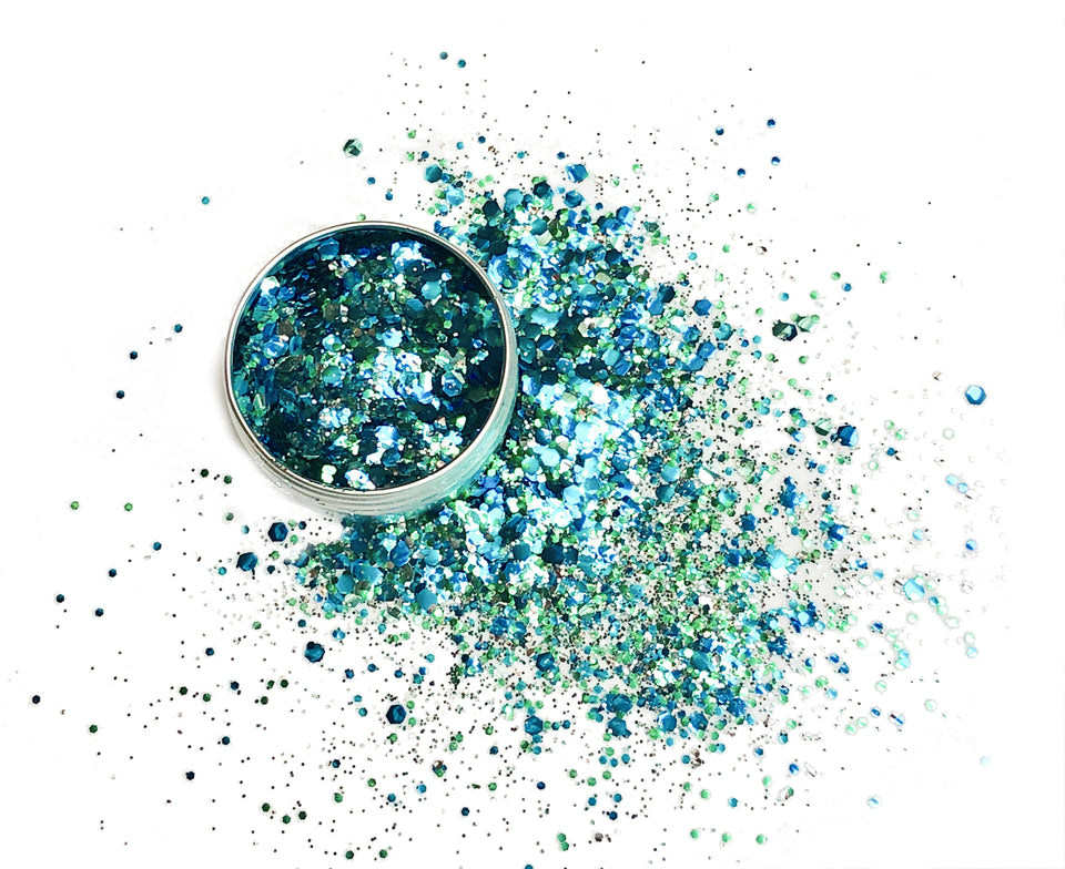 Deep Ocean - loose biodegradable glitter mix - Glitterazzi Biodegradable Eco-Friendly Glitter