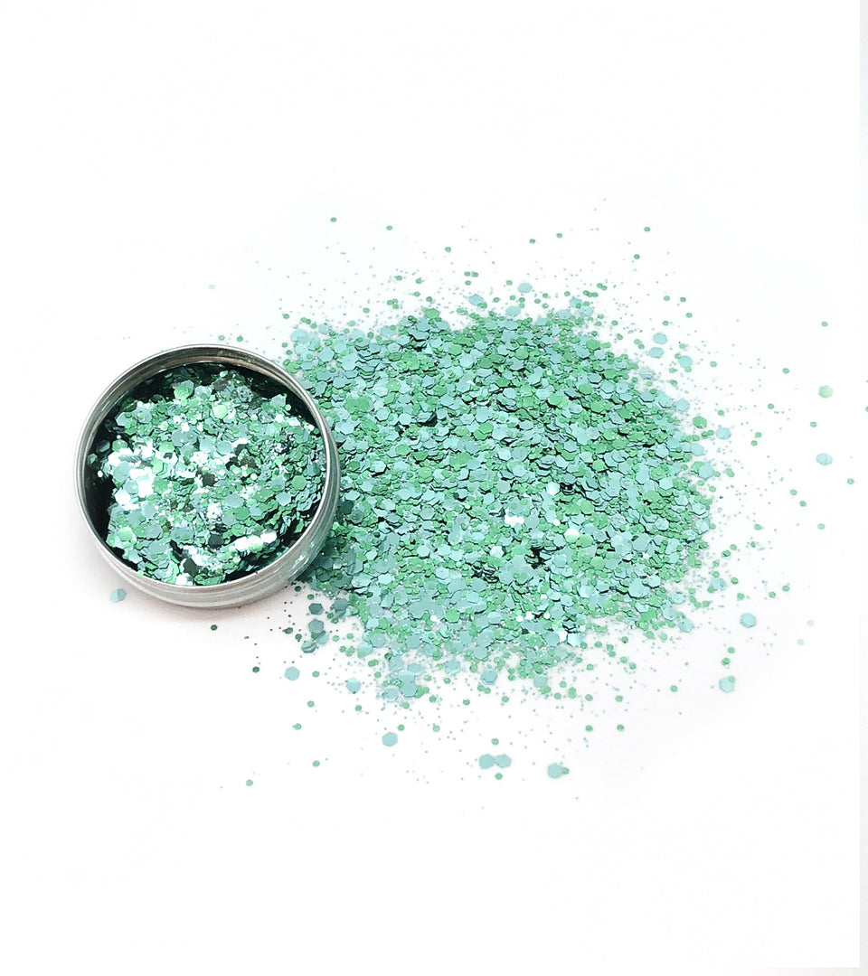Mermaid Jade - loose biodegradable glitter mix - Glitterazzi Biodegradable Eco-Friendly Glitter