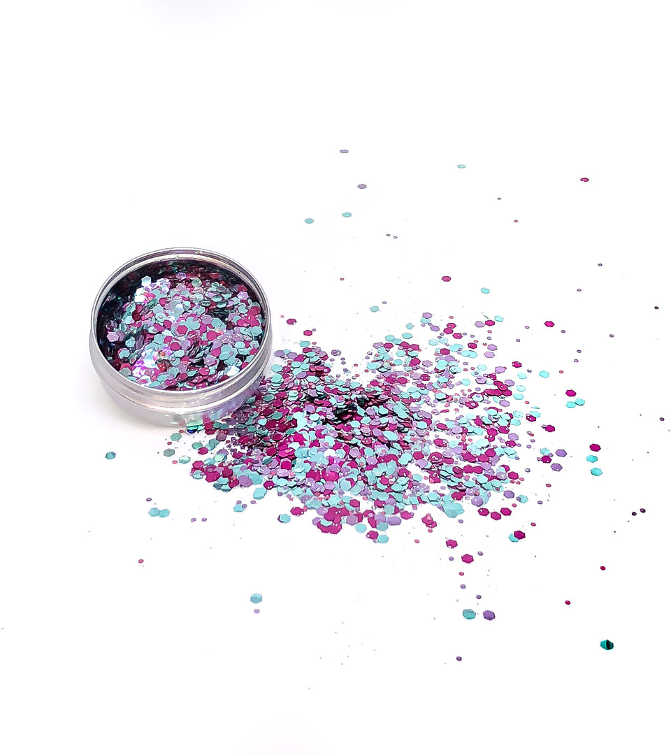Pink Moss - loose biodegradable glitter mix - Glitterazzi Biodegradable Eco-Friendly Glitter