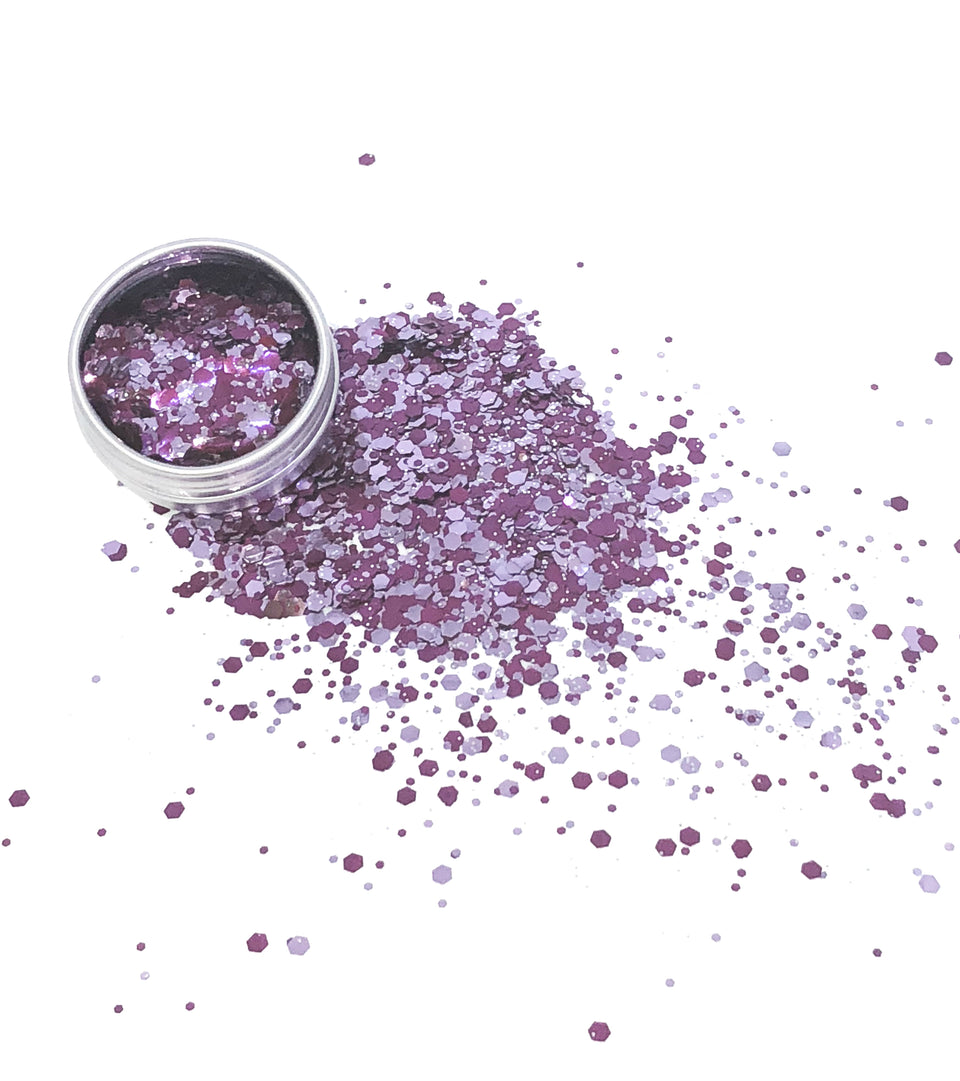 Purple Shadow - loose biodegradable glitter mix - Glitterazzi Biodegradable Eco-Friendly Glitter
