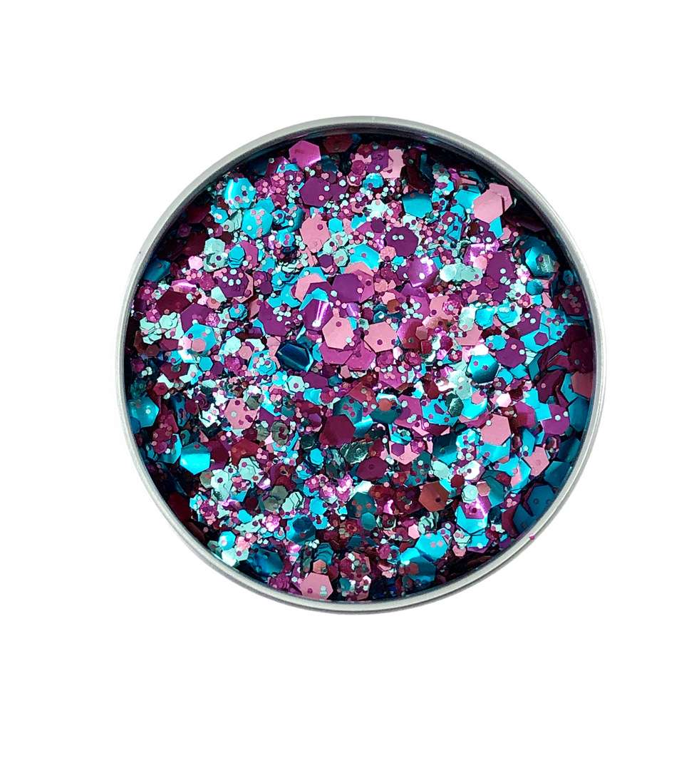 Spring Blues - loose biodegradable glitter mix