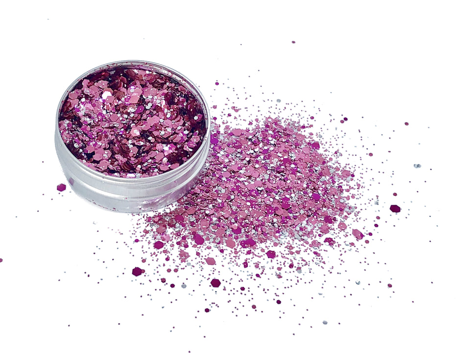Sunday Pinknic - loose biodegradable glitter mix - Glitterazzi Biodegradable Eco-Friendly Glitter
