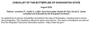 Checklist of Washington Butterflies - March 2021