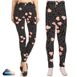 Pink Hearts, Leggings Sets - Nimbus, leggings, tights, girls clothing, Korean, plus size, one size, colorful, comfortable, cute, unique, fun, adorable
