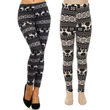 Black Deer, Leggings - Nimbus Apparel Co., leggings, tights, girls clothing, Korean, plus size, one size, colorful, comfortable, cute, unique, fun, adorable