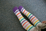 Stripes, Kids Tights - Nimbus, leggings, tights, girls clothing, Korean, plus size, one size, colorful, comfortable, cute, unique, fun, adorable