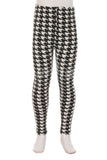 Houndstooth, Kids Leggings - Nimbus Apparel Co., leggings, tights, girls clothing, Korean, plus size, one size, colorful, comfortable, cute, unique, fun, adorable