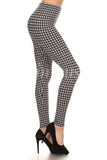 Houndstooth, Adult Leggings - Nimbus Apparel Co., leggings, tights, girls clothing, Korean, plus size, one size, colorful, comfortable, cute, unique, fun, adorable