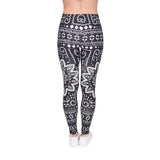 Mandala Ethnic, Adult Leggings - Nimbus Apparel Co., leggings, tights, girls clothing, Korean, plus size, one size, colorful, comfortable, cute, unique, fun, adorable