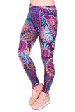 Mandala Flowers Pink, Adult Leggings - Nimbus Apparel Co., leggings, tights, girls clothing, Korean, plus size, one size, colorful, comfortable, cute, unique, fun, adorable