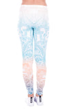 Mandala Mint, Adult Leggings - Nimbus Apparel Co., leggings, tights, girls clothing, Korean, plus size, one size, colorful, comfortable, cute, unique, fun, adorable
