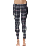 Navy Plaid, Leggings - Nimbus Apparel Co., leggings, tights, girls clothing, Korean, plus size, one size, colorful, comfortable, cute, unique, fun, adorable