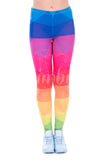 Triangles Rainbow, Adult Leggings - Nimbus Apparel Co., leggings, tights, girls clothing, Korean, plus size, one size, colorful, comfortable, cute, unique, fun, adorable