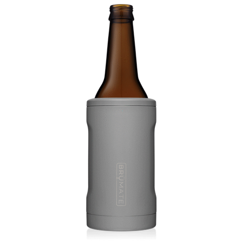 BrüMate Hopsulator Bott'l | Matte Gray (12 oz Bottle)