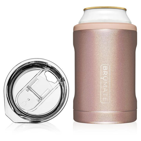 BrüMate Hopsulator Duo 2-in-1 | Glitter Rose Gold (12oz cans/tumbler)
