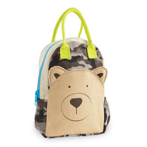 Mud-Pie Camo Bear Backpack