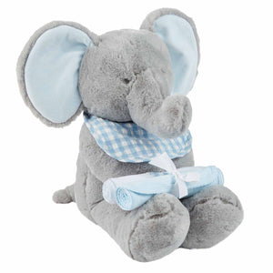 Mud-Pie Blue Elephant Gift Set