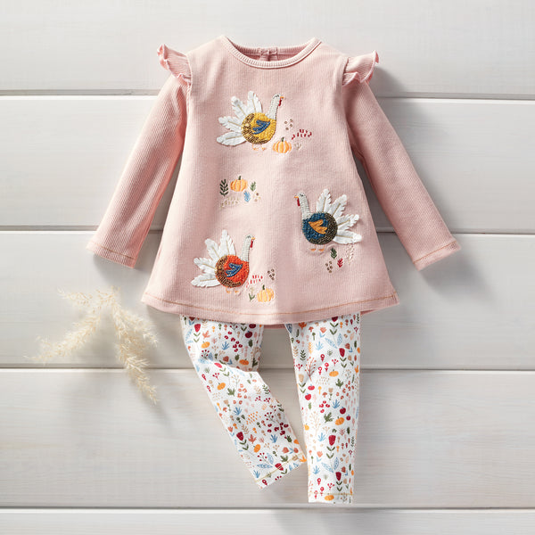 Mud-Pie Turkey Tunic & Legging Set - Baby & Toddler