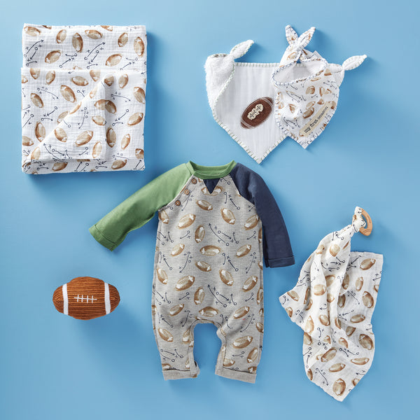 Mud-Pie Football Print One Piece