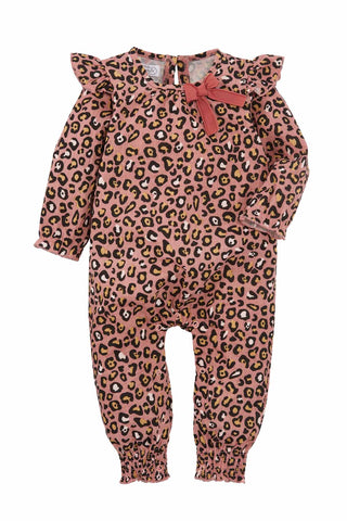 Mud-Pie Pink Leopard One Piece